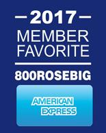 American Express 800RoseBig Member Favorite 2017