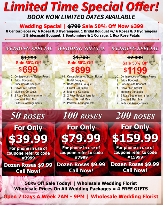 Wholesale Wedding Flower Packages Cheap