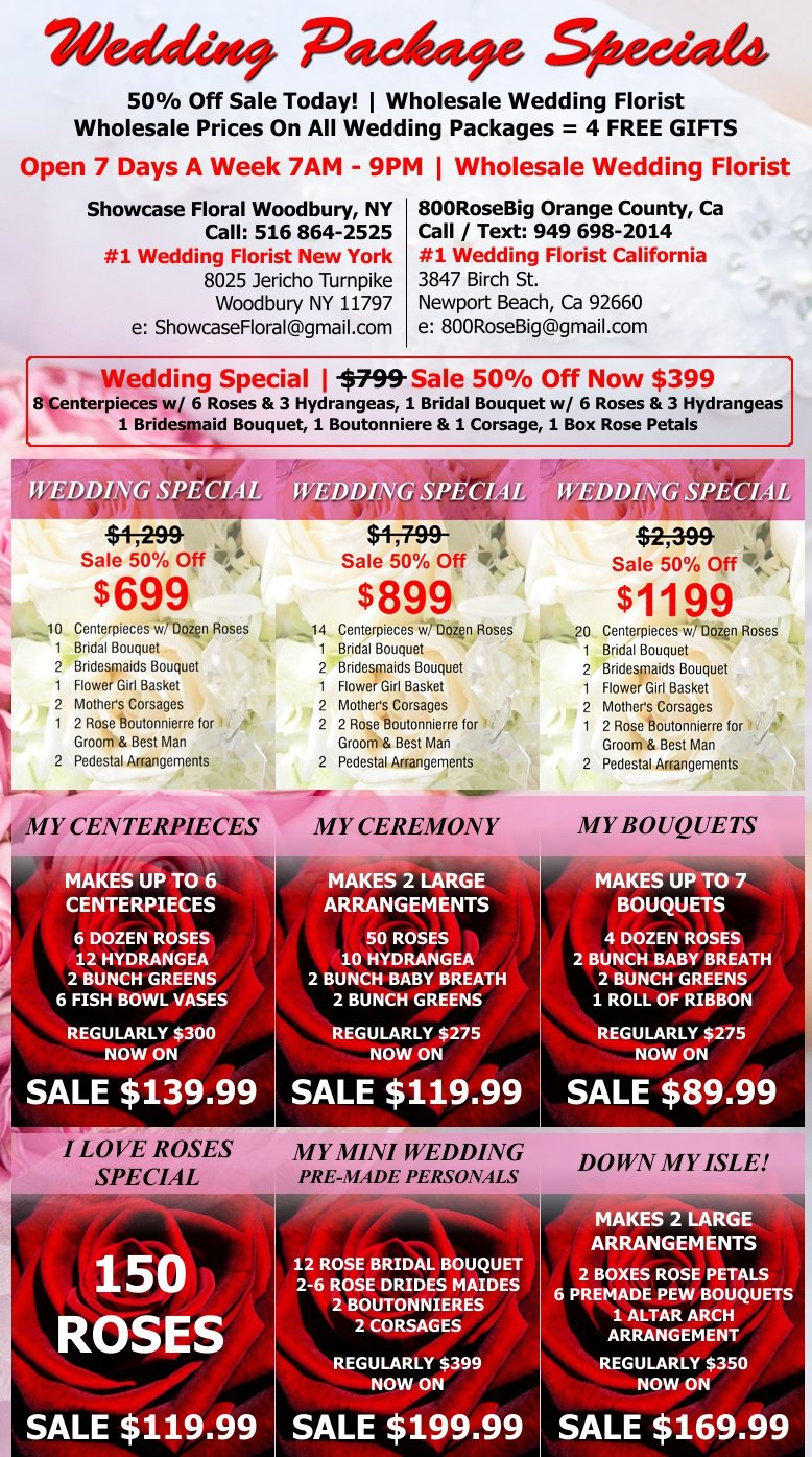 Wedding Flower Packages Orange County